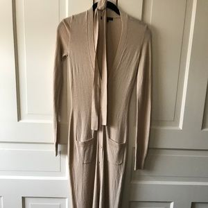 Rachel Zoe Tan Sweater Dress with Belt and Buttons